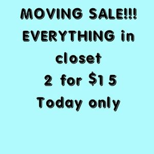 Moving sale Any 2 items for $15